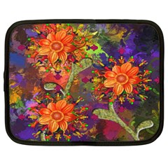 Abstract Flowers Floral Decorative Netbook Case (XXL)
