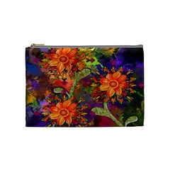 Abstract Flowers Floral Decorative Cosmetic Bag (Medium)