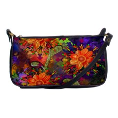 Abstract Flowers Floral Decorative Shoulder Clutch Bags