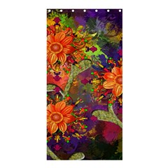 Abstract Flowers Floral Decorative Shower Curtain 36  x 72  (Stall)