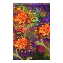 Abstract Flowers Floral Decorative Shower Curtain 48  x 72  (Small)