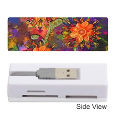 Abstract Flowers Floral Decorative Memory Card Reader (Stick)