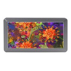 Abstract Flowers Floral Decorative Memory Card Reader (mini)