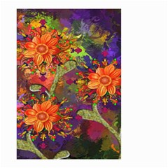 Abstract Flowers Floral Decorative Small Garden Flag (Two Sides)