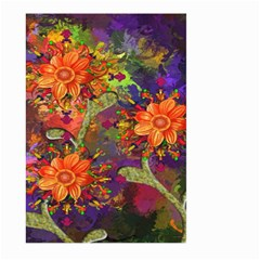 Abstract Flowers Floral Decorative Large Garden Flag (two Sides)
