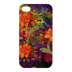 Abstract Flowers Floral Decorative Apple iPhone 4/4S Premium Hardshell Case