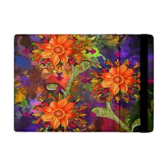 Abstract Flowers Floral Decorative Apple Ipad Mini Flip Case