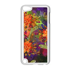 Abstract Flowers Floral Decorative Apple Ipod Touch 5 Case (white)