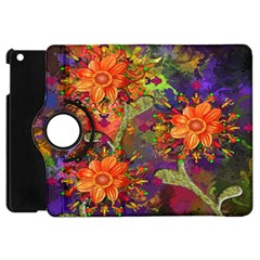 Abstract Flowers Floral Decorative Apple iPad Mini Flip 360 Case