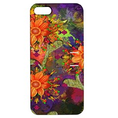 Abstract Flowers Floral Decorative Apple iPhone 5 Hardshell Case with Stand