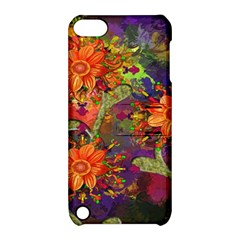 Abstract Flowers Floral Decorative Apple iPod Touch 5 Hardshell Case with Stand