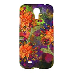 Abstract Flowers Floral Decorative Samsung Galaxy S4 I9500/I9505 Hardshell Case