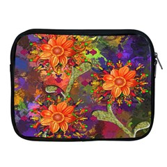 Abstract Flowers Floral Decorative Apple iPad 2/3/4 Zipper Cases