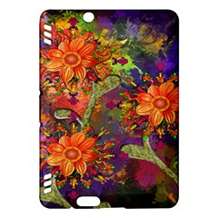 Abstract Flowers Floral Decorative Kindle Fire Hdx Hardshell Case