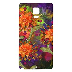Abstract Flowers Floral Decorative Galaxy Note 4 Back Case