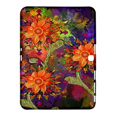 Abstract Flowers Floral Decorative Samsung Galaxy Tab 4 (10 1 ) Hardshell Case
