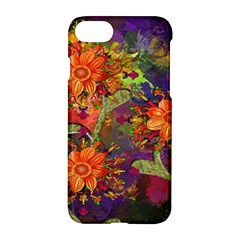 Abstract Flowers Floral Decorative Apple iPhone 7 Hardshell Case