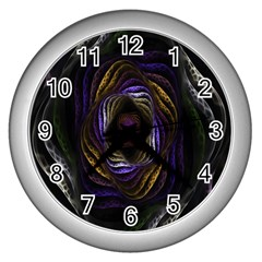 Abstract Fractal Art Wall Clocks (Silver)