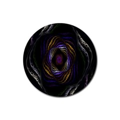 Abstract Fractal Art Rubber Round Coaster (4 pack)