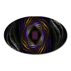 Abstract Fractal Art Oval Magnet