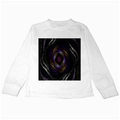 Abstract Fractal Art Kids Long Sleeve T Shirts