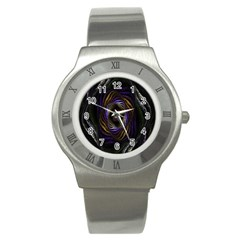 Abstract Fractal Art Stainless Steel Watch
