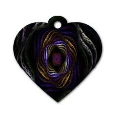 Abstract Fractal Art Dog Tag Heart (Two Sides)