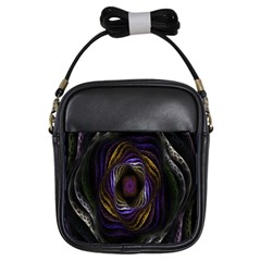 Abstract Fractal Art Girls Sling Bags