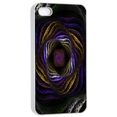 Abstract Fractal Art Apple iPhone 4/4s Seamless Case (White)
