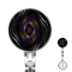Abstract Fractal Art Stainless Steel Nurses Watch