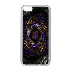 Abstract Fractal Art Apple iPhone 5C Seamless Case (White)