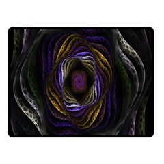 Abstract Fractal Art Double Sided Fleece Blanket (Small)