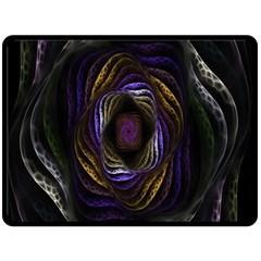 Abstract Fractal Art Double Sided Fleece Blanket (Large)