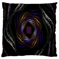 Abstract Fractal Art Large Flano Cushion Case (one Side)