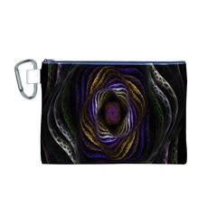 Abstract Fractal Art Canvas Cosmetic Bag (M)