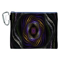 Abstract Fractal Art Canvas Cosmetic Bag (xxl)