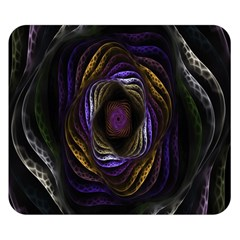 Abstract Fractal Art Double Sided Flano Blanket (small)