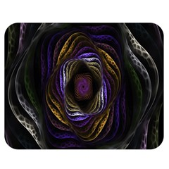 Abstract Fractal Art Double Sided Flano Blanket (medium)