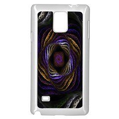 Abstract Fractal Art Samsung Galaxy Note 4 Case (white)