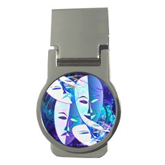 Abstract Mask Artwork Digital Art Money Clips (Round)