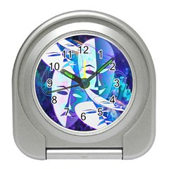Abstract Mask Artwork Digital Art Travel Alarm Clocks