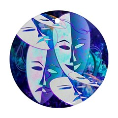 Abstract Mask Artwork Digital Art Round Ornament (Two Sides)