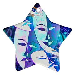Abstract Mask Artwork Digital Art Star Ornament (Two Sides)