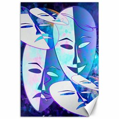 Abstract Mask Artwork Digital Art Canvas 12  X 18