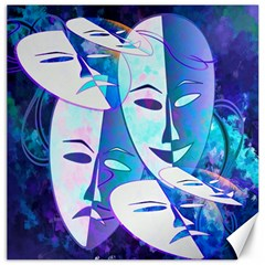 Abstract Mask Artwork Digital Art Canvas 16  x 16