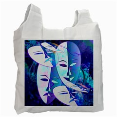 Abstract Mask Artwork Digital Art Recycle Bag (One Side)
