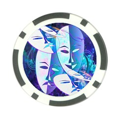 Abstract Mask Artwork Digital Art Poker Chip Card Guard (10 pack)