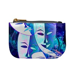 Abstract Mask Artwork Digital Art Mini Coin Purses