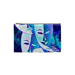 Abstract Mask Artwork Digital Art Cosmetic Bag (Small)