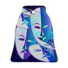Abstract Mask Artwork Digital Art Bell Ornament (Two Sides)